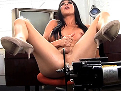Jonelle brooks  jonelle brooks  lascivious jonelle have sex by the machine. Libidinous Jonelle fuck by the machine