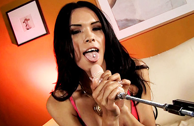 Ts nelly. Lusty Nelly tries the have sexual intercourse machine